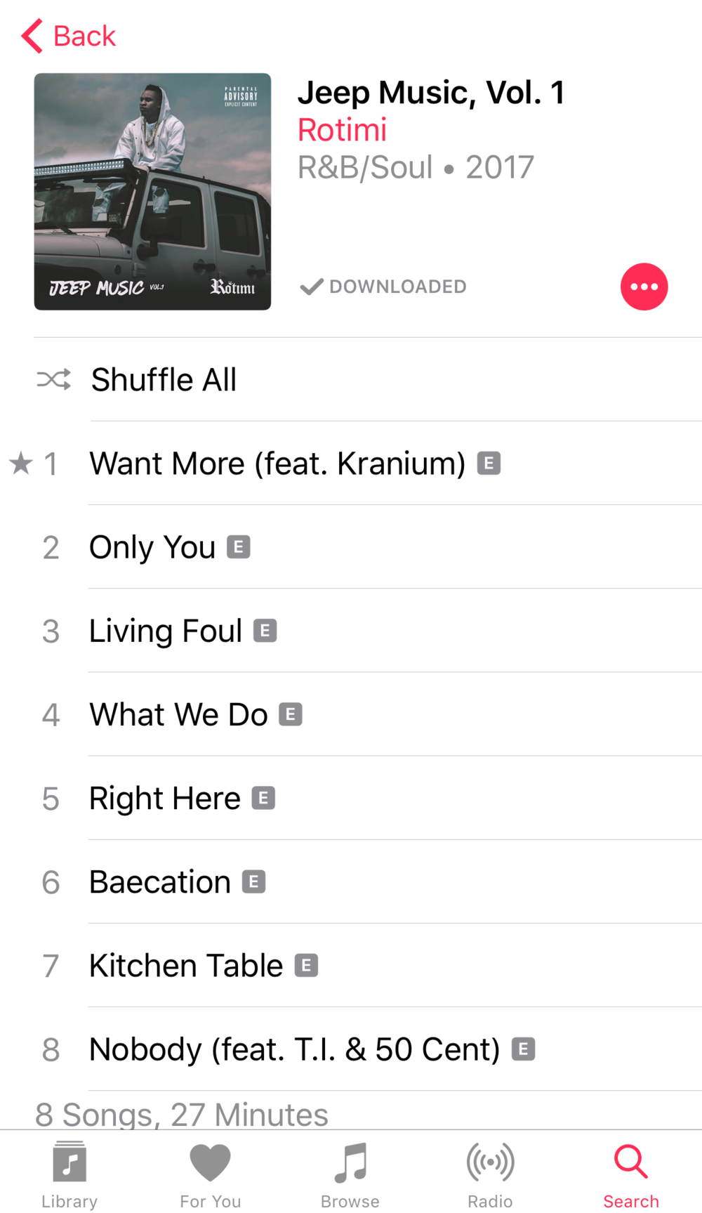 - I have personally listened to his music and I can honestly say that he has a really nice voice and this last body of work gives me some really good R&B vibes, that we can all use right about now.Check out his album cover and track list shown here and definitely give it a listen. It's pretty dope.