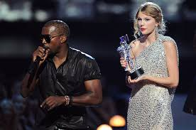 Kanye West disrupts Swift's acceptance speech for Best Female Video at the 2009 MTV Video Awards. [Image Credit: Google]