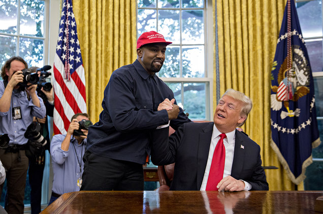 Kanye and President Donald Trump in the Oval Office. [Image Credits: Google]