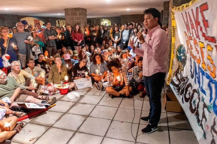 Eduardo Leads a Dreamer/DACA Action