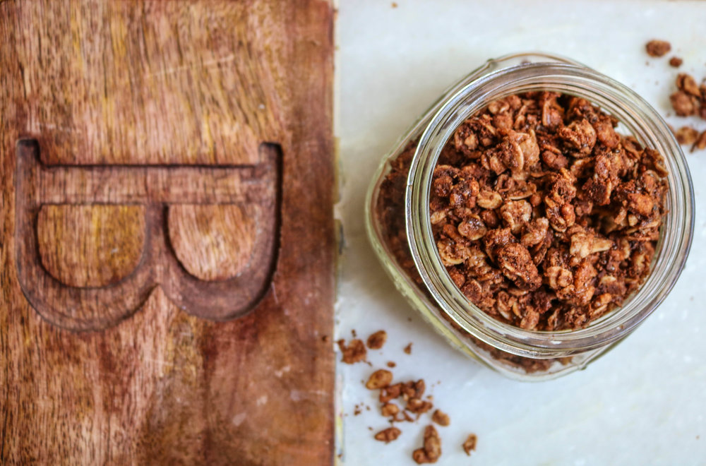 cacao chocolate almond butter granola