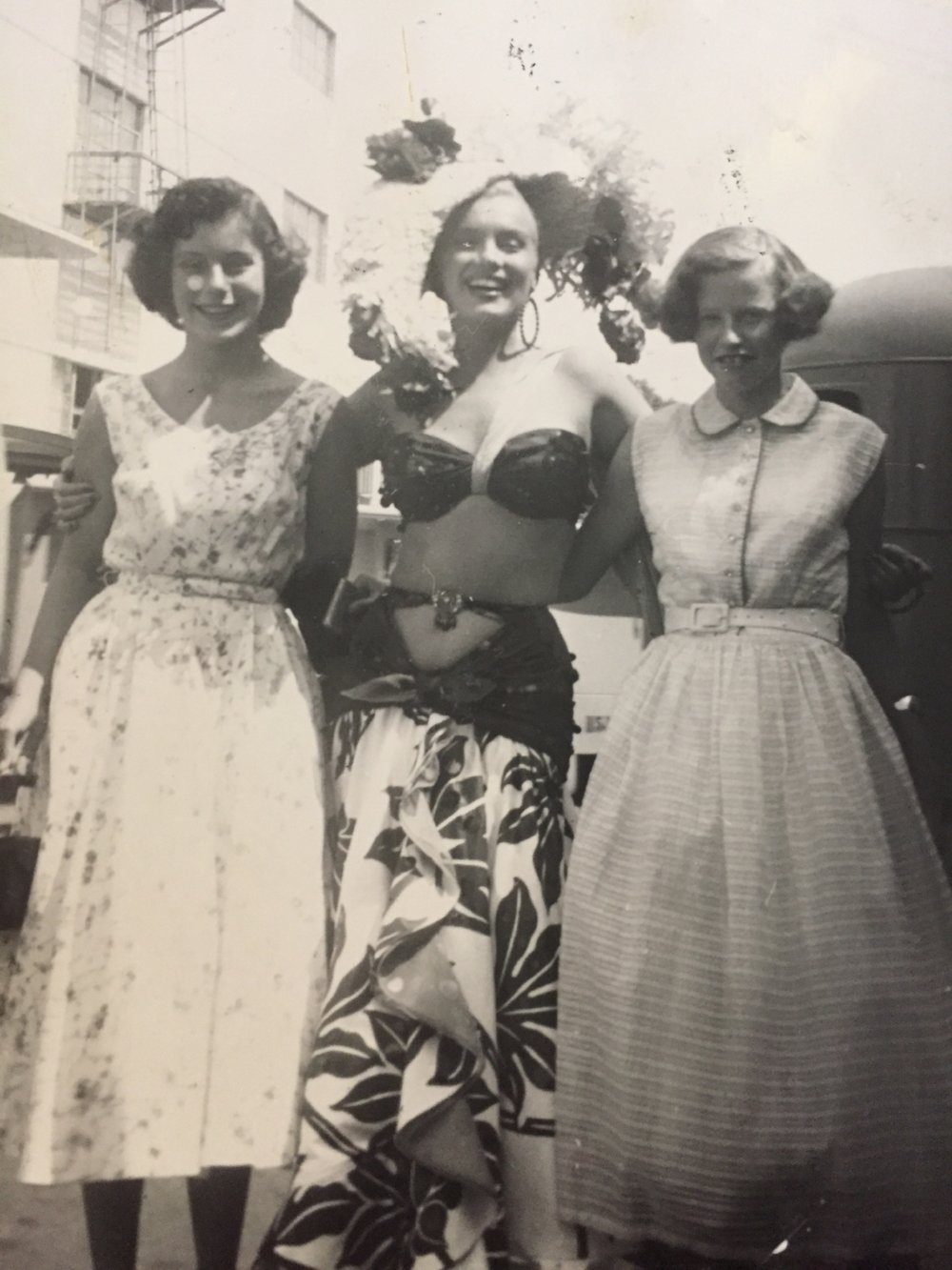My grandma (R)  and her friend with Marilyn Monroe.