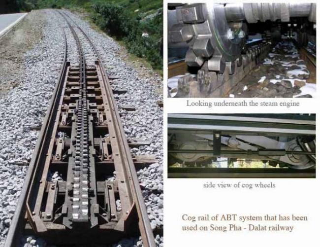 Tuyến đường sắt răng cưa dùng để đưa tàu lên độ cao 1.500 mét.