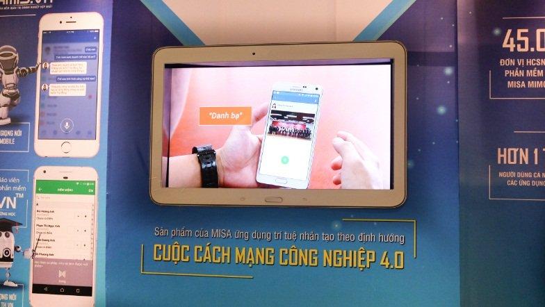 MISA đem tới Vietnam ICT Summit 2017 một loạt các giải pháp ứng dụng trí tuệ nhân tạo bao gồm Giám đốc tài chính số Amis.vn; Nhân viên order số bằng giọng nói trên phần mềm quản lý nhà hàng quán cà phê Cukcuk.vn và Trợ lý nhập điểm bằng giọng nói trên phần mềm Quản lý trường học QLTH.vn.