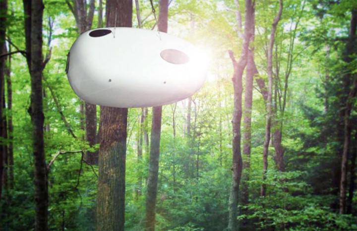 Baobed Sleeping Pod: Không gian có thể treo ở ngọn cây, nằm trên bãi biển hay thậm chí ở giữa ao. Hình dáng trái cây của kiến trúc được lấy cảm hứng từ trái của cây baobab và cung cấp một không gian an toàn, nhỏ bé cho khách du lịch. Có trọng lượng nhẹ nó có thể được vận chuyển trên xe moóc và trang bị những thiết bị cần thiết.
