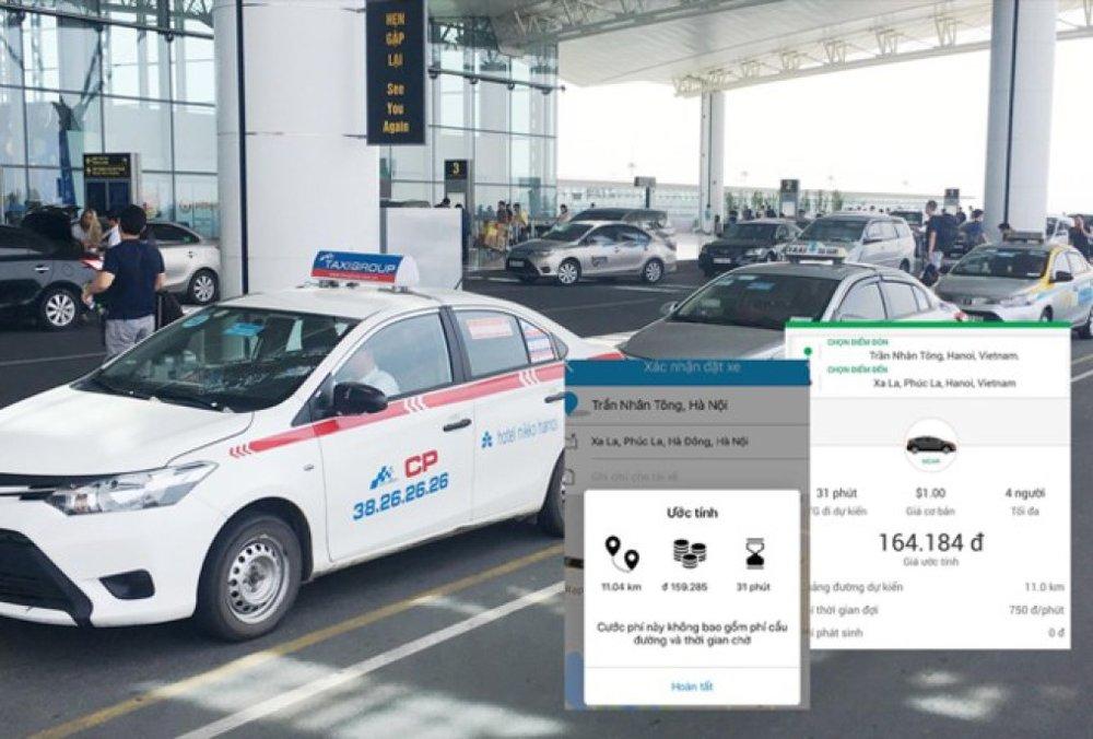 Cùng hành trình nhưng xe công nghệ trong nước đang có giá cước cao gần gấp đôi xe công nghệ nước ngoài. Ảnh: Anh Trọng.