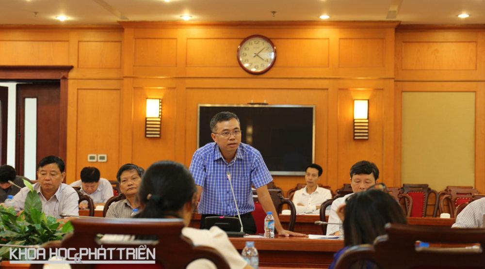 Ông Đào Mạnh Thắng chia sẻ về tiến độ thực hiện đề án Phát triển hệ tri thức Việt số hóa.