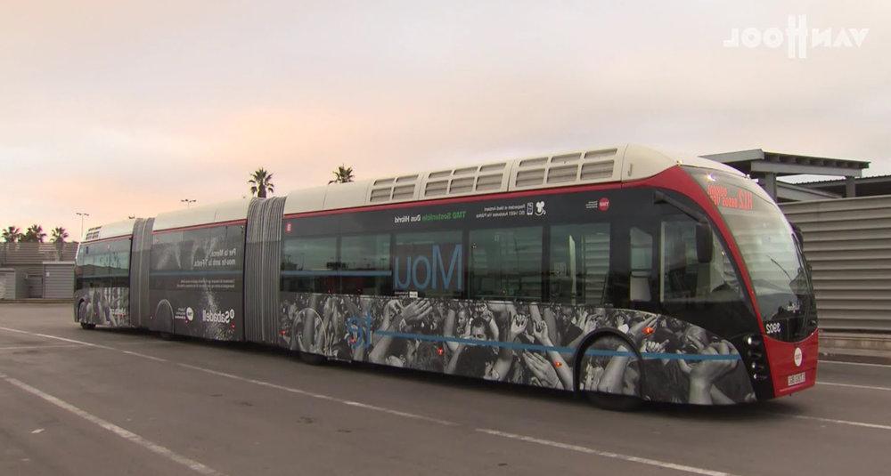 Hệ thống xe buýt mới ở Barcelona (Tây Ban Nha) -