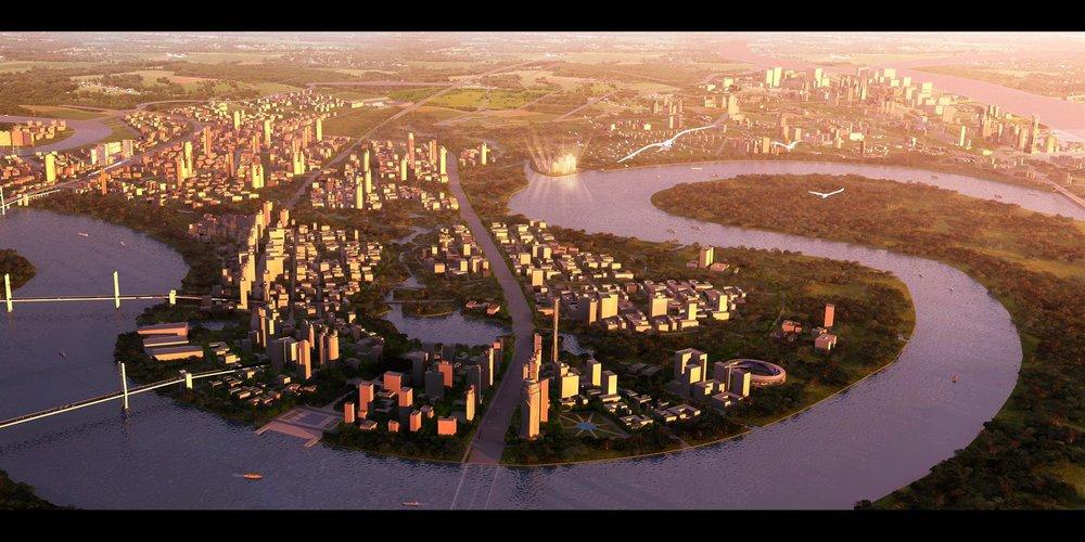 - Thành phố Hồ Chí Minh cũng lựa chọn bắt đầu thí điểm xây dựng mô hình trung tâm tại Thủ thiêm vào tháng 10/2017.