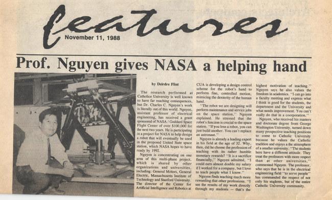 Một bài báo về việc GS Cường tham gia dự án của NASA