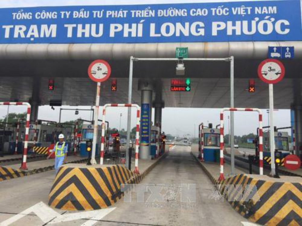 Trạm thu phí Long Phước trên tuyến cao tốc TP Hồ Chí Minh – Long Thành – Dầu Giây sẽ được bố trí 2 cửa thu phí ETC. Ảnh: Hoàng Hải/TTXVN