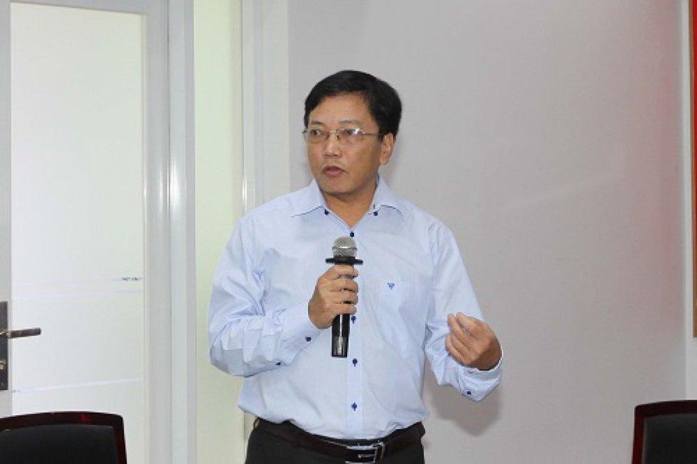 Ông Nguyễn Khắc Thanh mong muốn các thành phần trong hệ sinh thái tích cực đóng góp ý kiến để cùng phát triển hệ sinh thái khởi nghiệp, ĐMST thành phố
