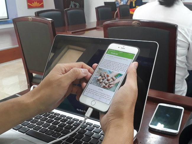 FarmTech là một mạng xã hội hỗ trợ nông dân sản xuất nông nghiệp ứng dụng công nghệ cao. Ảnh: Hà Thế An.