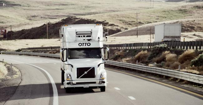 Xe tải Otto không cần người lái. Ảnh: Otto