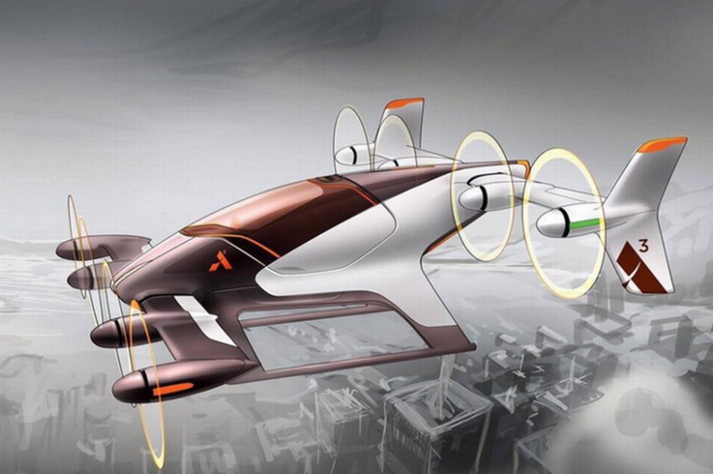 Mẫu xe bay của Airbus - Ảnh: Airbus