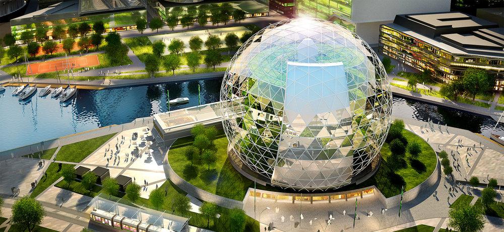 Nhà kính khổng lồ của Plantagon tại Stockholm, Thụy Điển -