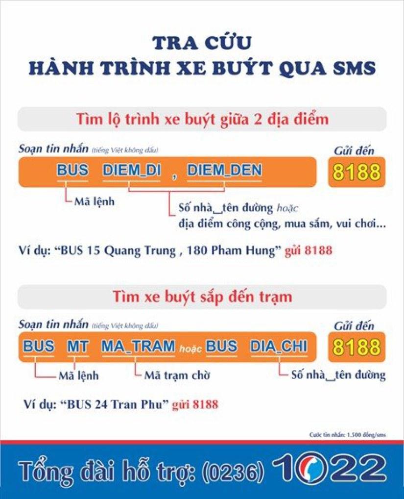 Tra cứu thông tin xe buýt qua tin nhắn SMS