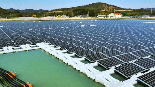 Dự án pin nổi Yamakura Dam của Kyocera tại Nhật Bản.