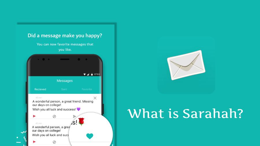 2. Ứng Dụng Sarahah - Sarahah là một ứng dụng nhắn tin nặc danh.