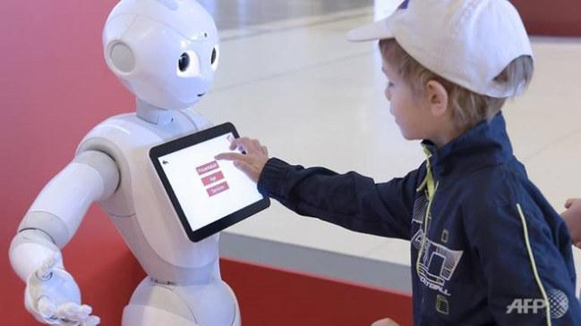 Pepper, robot có khả năng phân tích cảm xúc.
