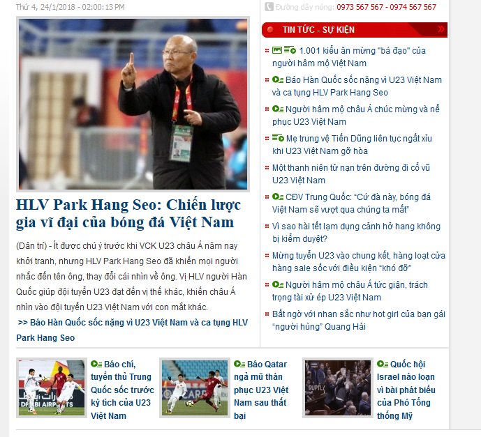 Dantri.com.vn - 13/14 bài mới về U23