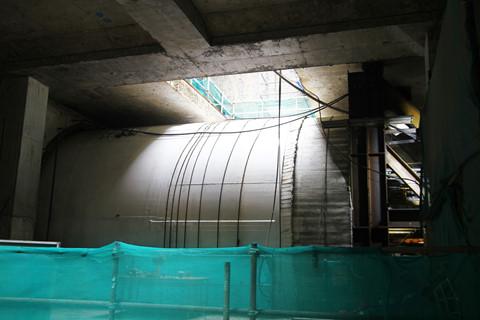 Vỏ hầm thứ hai chuẩn bị đào ở ga Ba Son