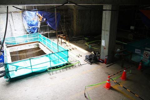 Ảnh tầng hầm bên dưới nhà ga Ba Son. Gói thầu 1b dự kiến hoàn thành trong năm 2019