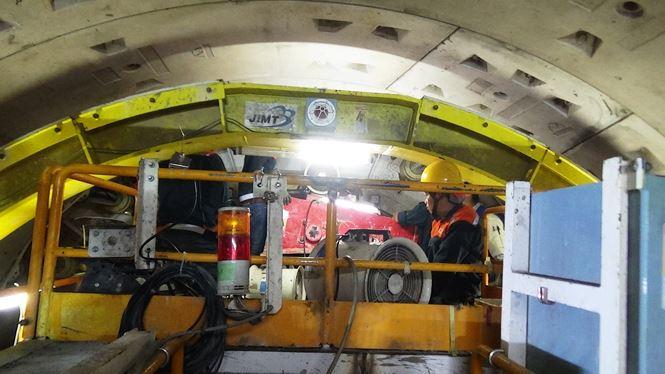 Robot TBM là công nghệ khoan đào kích cỡ lớn lần đầu tiên được sử dụng ở Việt Nam có chiều dài 70m, nặng khoảng 300 tấn.