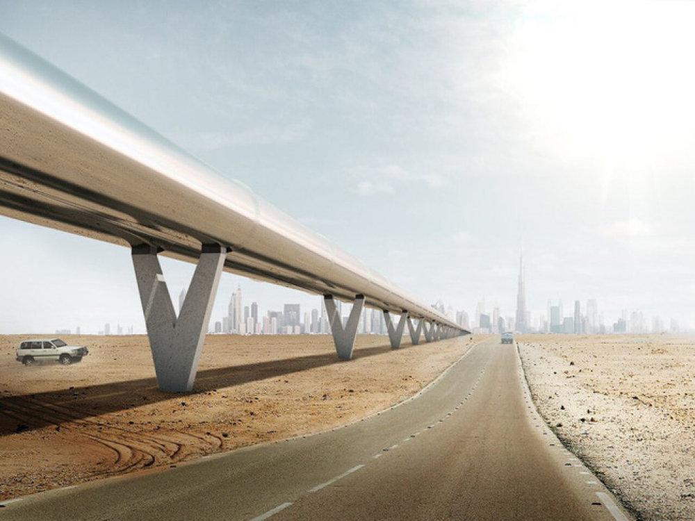 Những thành phố như Dubai cần một hệ thống hyperloop. Ảnh:The Verge.