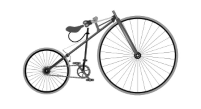 Xe đạp bắt đầu có hệ thống sên líp chuyên nghiệp hơn dù vẫn còn bánh cao bánh thấp