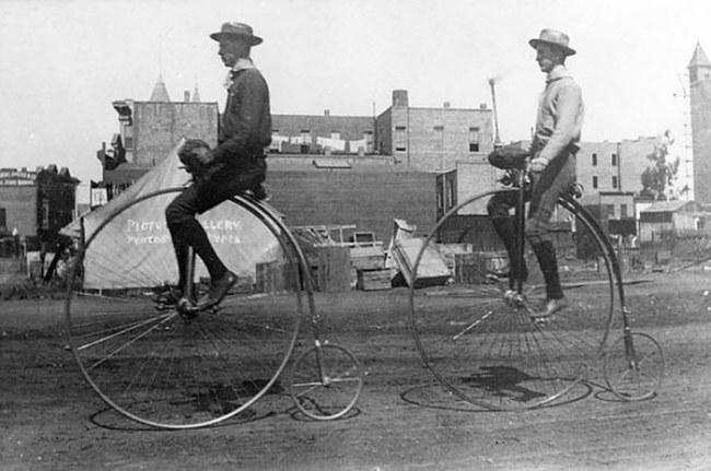 Tai nạn rất dễ xảy ra với loại xe đạp bánh cao bánh thấp