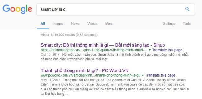 Các bài viết trên cổng thông tin về những đề tài nóng được xếp hàng đầu khi tìm kiếm với Google
