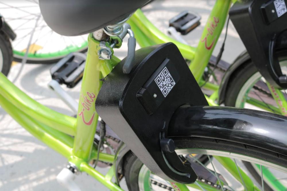 Mã QR được dùng cho xe đạp thông minh E-bike - Ảnh: TẤT ĐẠT