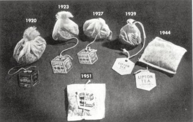 Sự phát triển của gói trà qua các năm - Ảnh: Getty Images