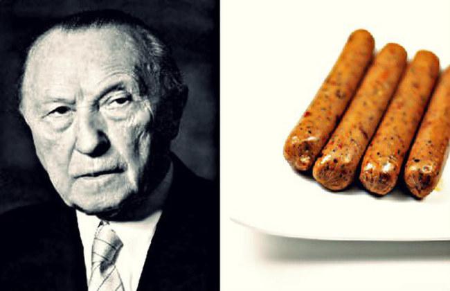 Konrad Adenauer và món xúc xích chay - Ảnh: Getty Images