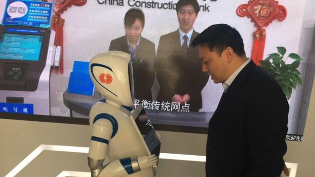 Robot tại chi nhánh ở Thượng Hải của CCB.