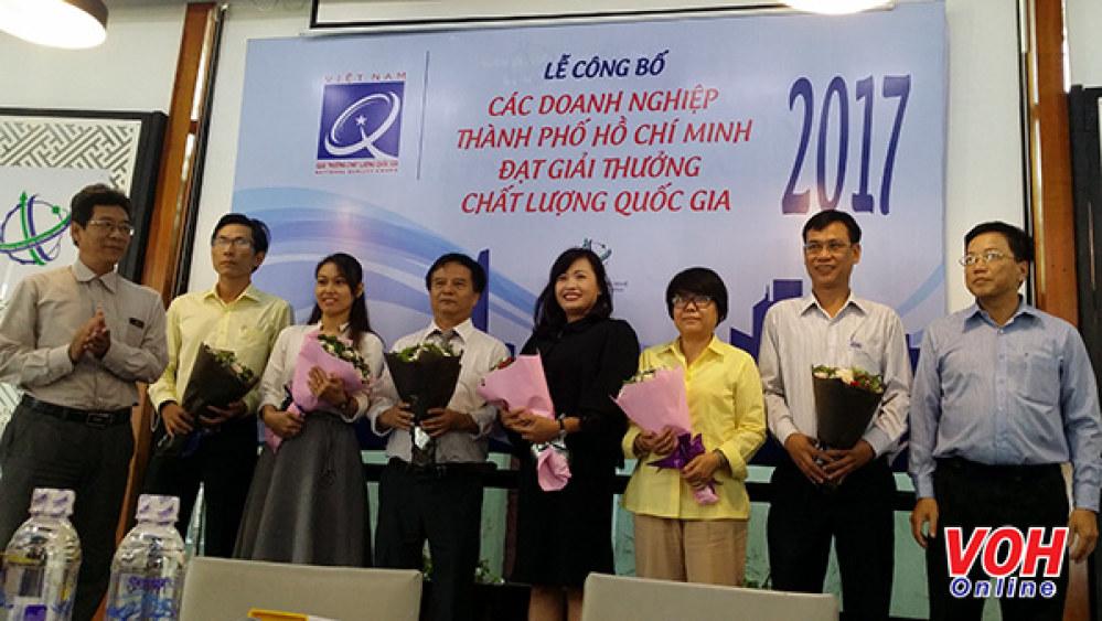 Sở Khoa học và Công nghệ TP chúc mừng 06 doanh nghiệp đạt giải thưởng Chất lượng Quốc gia năm 2017.