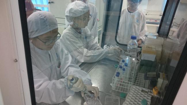 Sinh viên trải nghiệm khóa học ngắn hạn tại Viện Tế bào gốc - Ảnh: vinastemcelllab