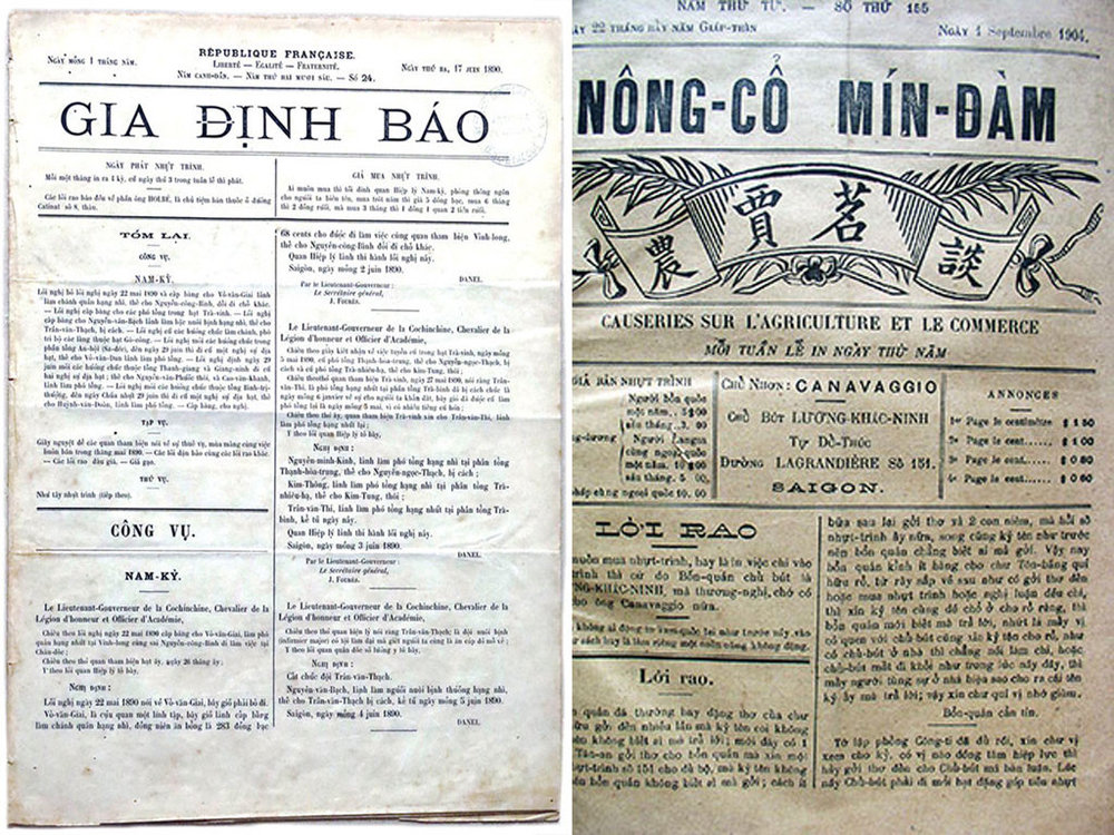 - Hình thức báo không có quá nhiều thay đổi từ khi nền báo chí Việt nam ra đời (1865) đến đầu những năm 2000. Thời sơ khai, báo được in khổ lớn trên nền đen trắng.