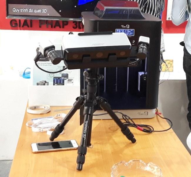 Máy scan 3D cho phép tái lập thiết kế 3D của vật thể cũng như kiểm tra độ chính xác của kích thước sản phẩm