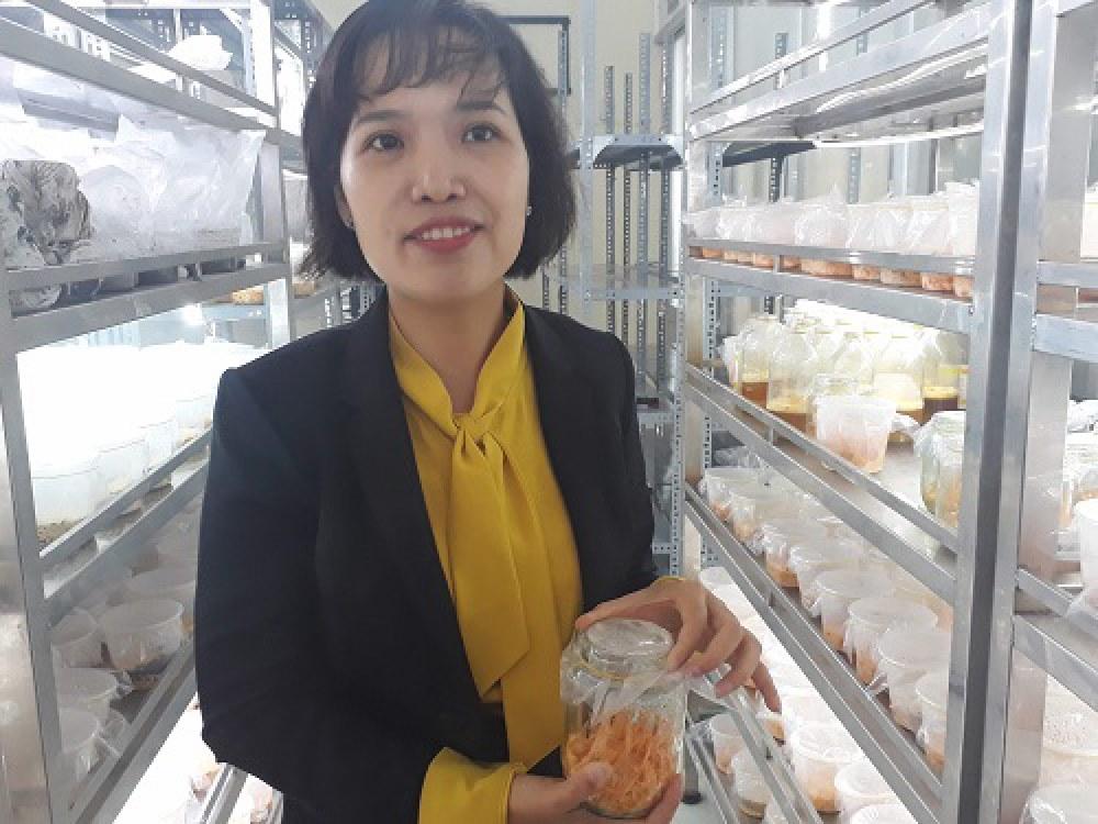 TS Nguyễn Thị Liên Thương đã có nhiều năm nghiên cứu đông trùng hạ thảo tại xứ sở Kim Chi. Ảnh: Hà Thế An.