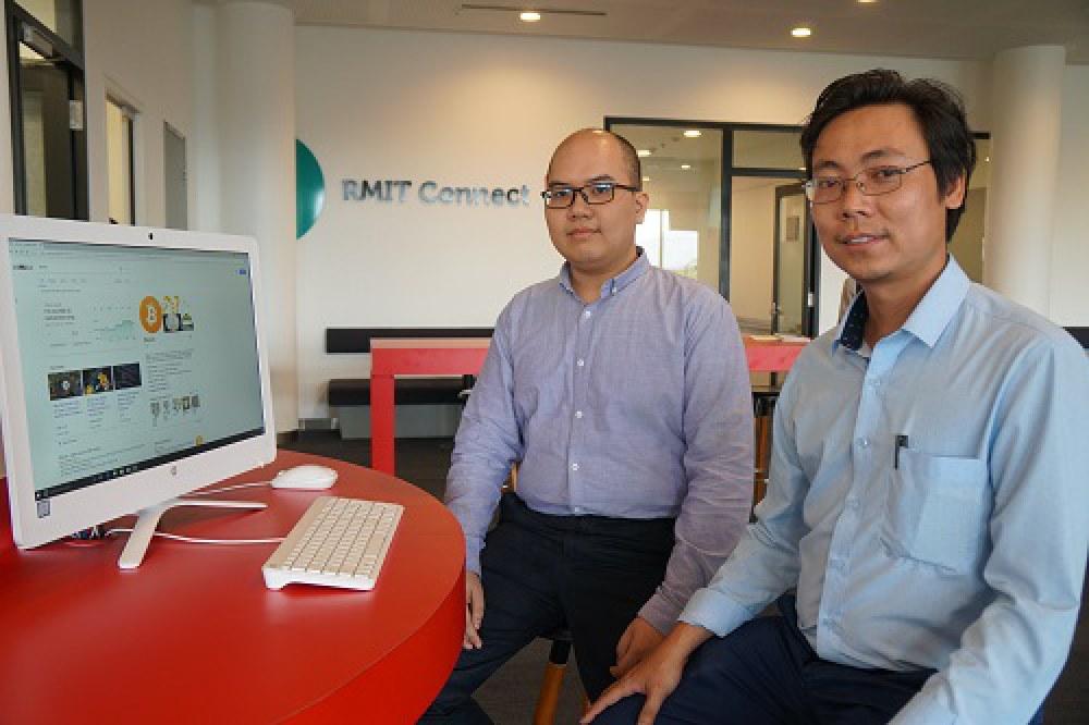 TS Nguyễn Ngọc Thành (phải) và TS Đặng Phạm Thiên Duy là hai chuyên gia về lĩnh vực CNTT nói chung và blockchain nói riêng. Ảnh: NVCC.