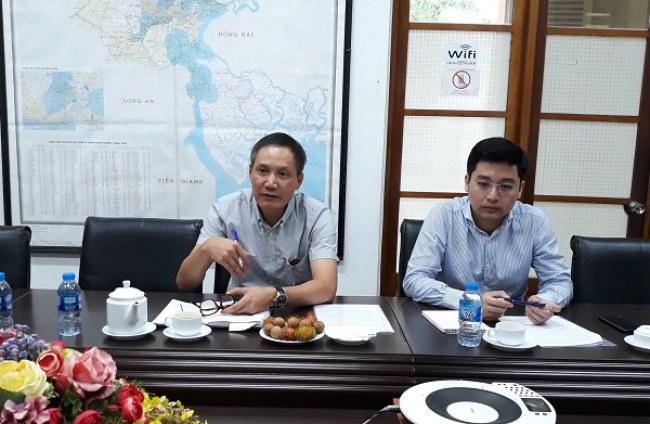 Ông Đỗ Minh Hùng (trái) cho biết giáo dục là một trong những lĩnh vực mà phía Israel đặc biệt quan tâm và mong muốn hợp tác với Việt Nam