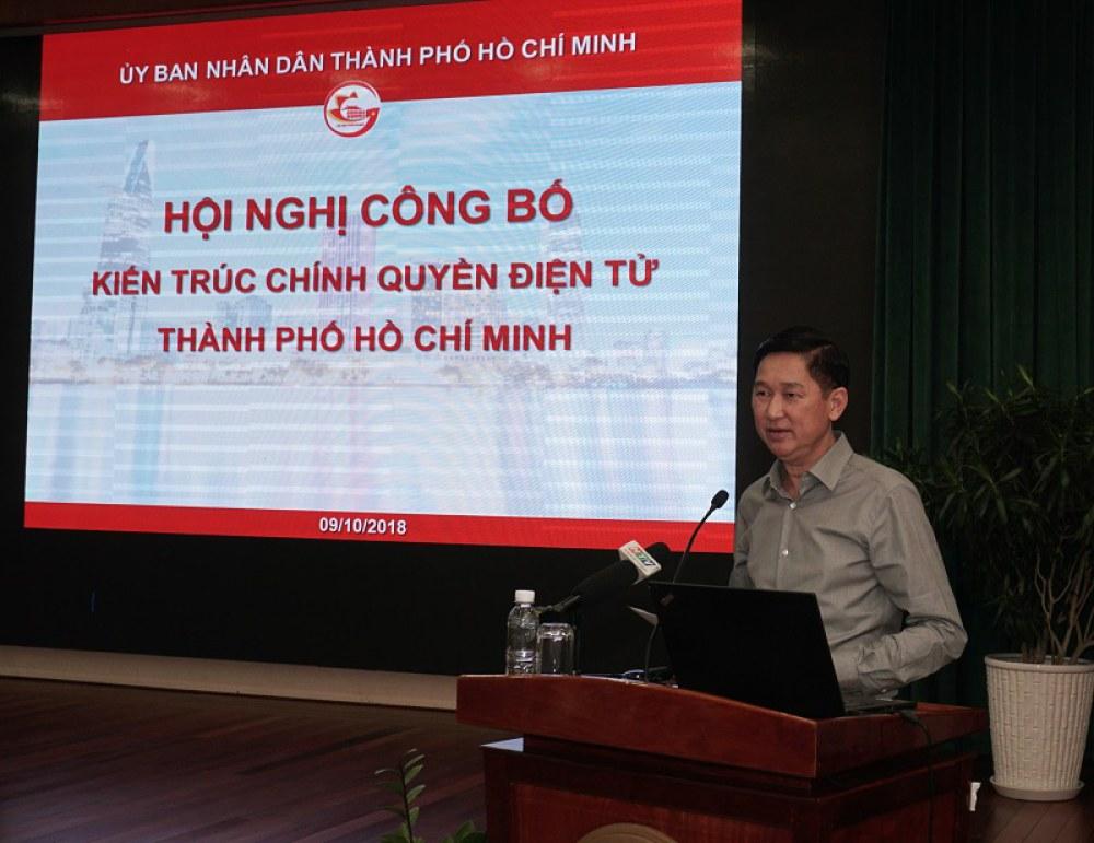 Ông Trần Vĩnh Tuyến, Phó Chủ tịch UBND TP.HCM, phát biểu tại hội nghị