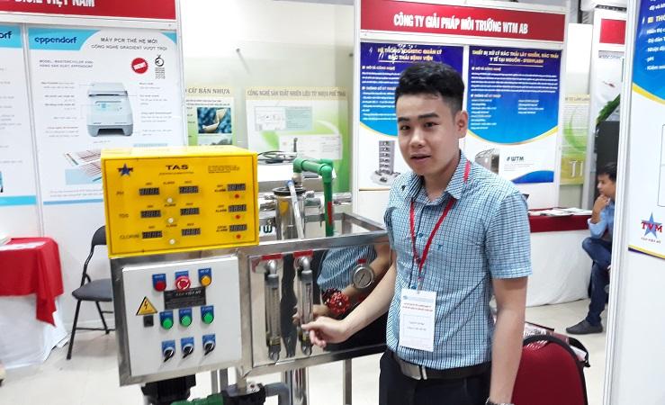 Hệ thống lọc nước chạy thận kết hợp kiểm soát chất lượng nước thiết kế  chế tạo tại Việt Nam của công ty TNHH Thương mại - Dịch vụ Tân Việt Mỹ