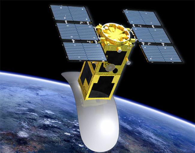 """Hình ảnh mô phỏng vệ tinh LOTUSat-1 mà Dự án """"Phòng chống thiên tai và  biến đổi khí hậu sử dụng vệ tinh quan sát trái đất"""" sẽ chế tạo.  Ảnh:JICA Việt Nam."""