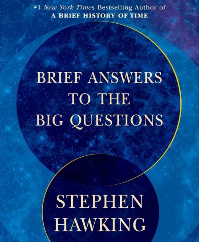 """Cuốn sách """"Brief answers to big questions"""" (tạm dịch: """"Những câu trả lời tóm lược cho những câu hỏi tóm lược)."""