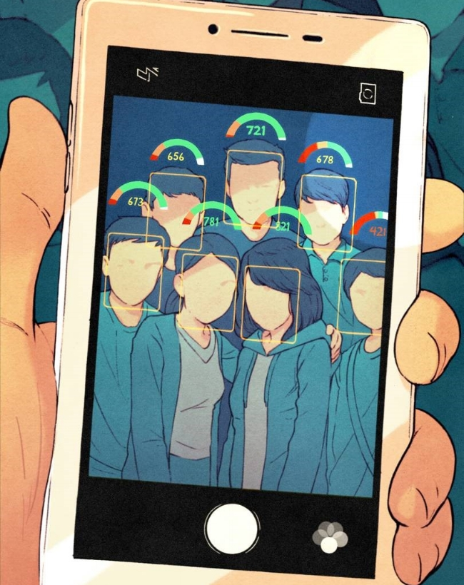 Điểm càng cao thì người đó càng tốt. Hình minh hoạ: Kevin Hong của wired.co.uk