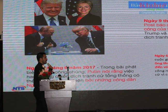 Đại biểu tham dự hội thảo trình bày tham luận xoay quanh nội dung nhu cầu và giải pháp đảm bảo an toàn thông tin mạng.