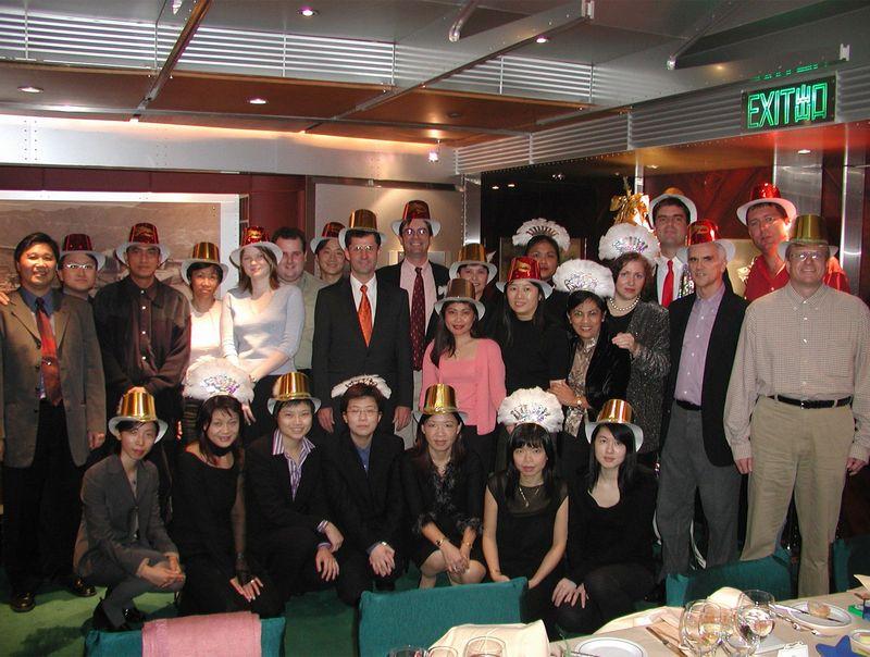 Giáng sinh tại văn phòng của Benter năm 2000